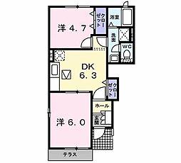 アプローズ弐番館[1階]の間取り