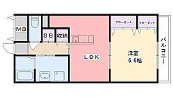 クラルテ甲子園[2階]の間取り