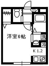 ベルヴィル溝の口[2階]の間取り