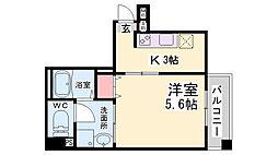 JR東海道・山陽本線 神戸駅 徒歩11分の賃貸マンション 6階1Kの間取り