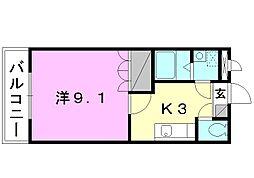 プラムガーデンSin[102 号室号室]の間取り
