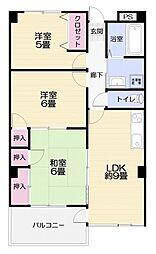 横須賀昭和ビルマンション[301号室]の間取り