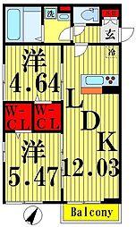 仮) D-room加賀[2階]の間取り