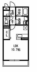 コスモシティ桜[101号室]の間取り