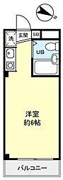 ワークス志津[4階]の間取り