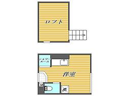 東京都板橋区中丸町の賃貸アパートの間取り