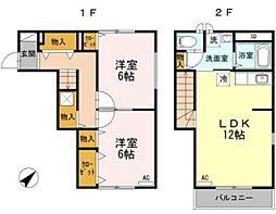 JR京浜東北・根岸線 大森駅 徒歩12分の賃貸アパート 1階2LDKの間取り