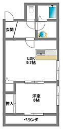 ザ・プレイス2[3階]の間取り