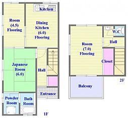 [タウンハウス] 兵庫県神戸市垂水区舞子台6丁目 の賃貸【兵庫県 / 神戸市垂水区】の間取り