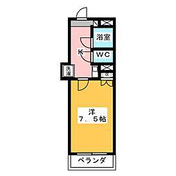 ロイヤルマンション磐田[3階]の間取り