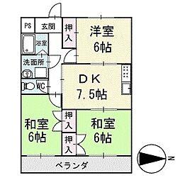 グランデ大銀 3階[304号室]の間取り