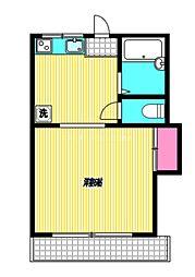 西武国分寺線 恋ヶ窪駅 徒歩8分の賃貸アパート 2階1DKの間取り