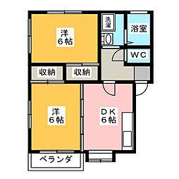 グランシャリオA・B[1階]の間取り