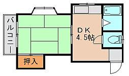 山田コーポ[2階]の間取り