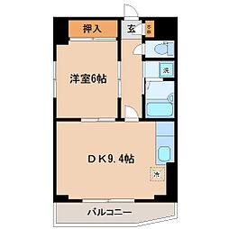 キャピタル萩野町[3階]の間取り