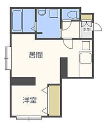 ブルースカイ札幌中央[3階]の間取り