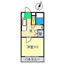 アイビーコーポ津野[2階]の間取り