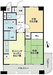 ライオンズマンション昭和町[9階]の間取り