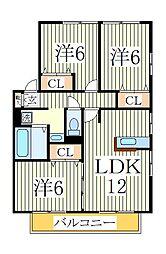 リビングタウン南青山C[1階]の間取り