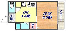 プラム住吉[4階]の間取り