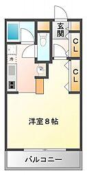ベルハイム江坂[2階]の間取り
