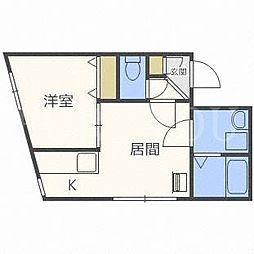 アメーノカーサ[3階]の間取り