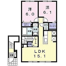 北海道札幌市白石区川下一条8丁目の賃貸アパートの間取り