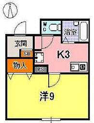 ドゥジェーム夙川[303号室]の間取り