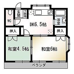 埼玉県和光市中央2丁目の賃貸アパートの間取り