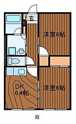 サンホワイトM504号棟[2階]の間取り