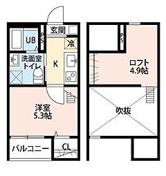 コンフォート上高畑  (コンフォートカミタカバタ)[2階]の間取り