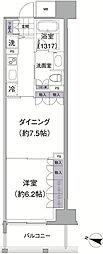 東京都品川区上大崎2丁目の賃貸マンションの間取り
