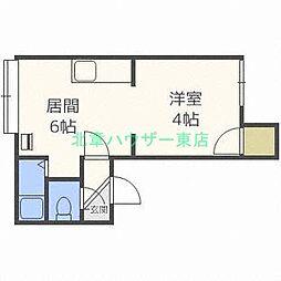 北海道札幌市東区北二十七条東17丁目の賃貸アパートの間取り