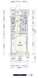 JR大阪環状線 鶴橋駅 徒歩3分の賃貸マンション 3階1Kの間取り