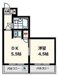 XIV1(エクシブ1)[4階]の間取り