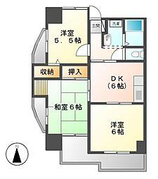 ベルドミール葵21[1階]の間取り