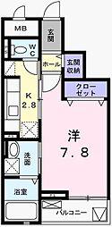 兵庫県姫路市飾東町庄の賃貸マンションの間取り