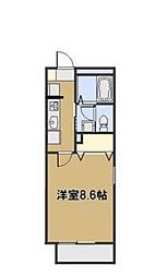 埼玉県新座市東北2丁目の賃貸アパートの間取り