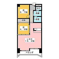 ラフォーレ末広[3階]の間取り