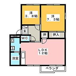 Welcome B[2階]の間取り