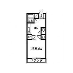 清水第2マンション[202号室]の間取り