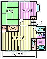 埼玉県さいたま市西区指扇の賃貸アパートの間取り