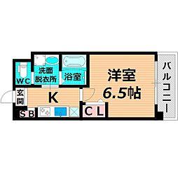 京阪本線 関目駅 徒歩5分の賃貸マンション 1階1Kの間取り