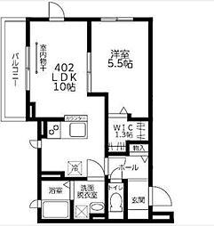 東京都中野区鷺宮3丁目の賃貸マンションの間取り