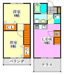 テラスグリーンパークS-5[2号室]の間取り