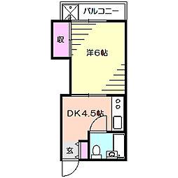 サンハイツ戸張[3階]の間取り