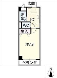 メゾンサカエ[5階]の間取り