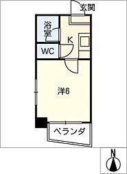 オーク三郷[6階]の間取り