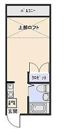 ニューキャッスル[2階]の間取り