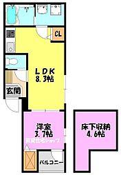 新今里6丁目SKHコーポA[1階]の間取り